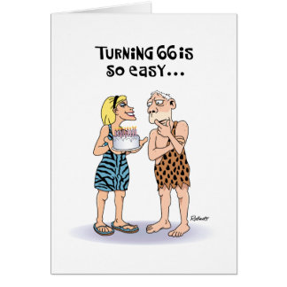 Funny 66th Birthday Greeting Card
