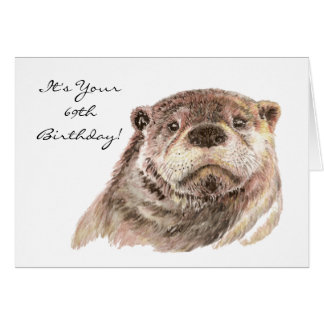 Funny 69th Birthday Cute Otter Nature, Wildlife Card