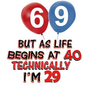 Funny 69th Birthday Designs Card