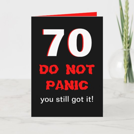 Funny 70th Birthday Card For Men