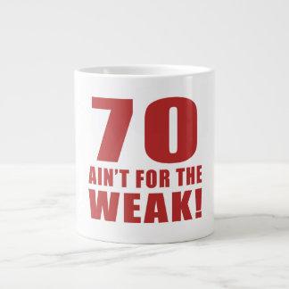 Funny 70th Birthday Gag Gifts Large Coffee Mug