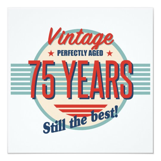 Funny 75th Birthday Old Fashioned Card
