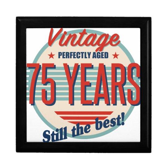 Funny 75th Birthday Old Fashioned Gift Box