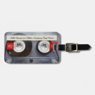 Funny 80's Cassette Tape, Personalized Tags For Bags