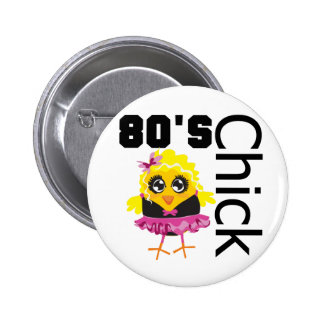 Funny 80s Chick 6 Cm Round Badge