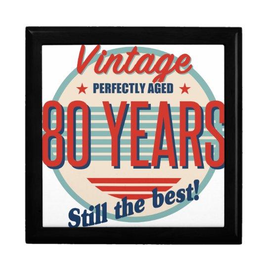 Funny 80th Birthday Old Fashioned Gift Box