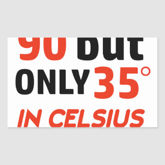 Funny 90th birthday design rectangular sticker
