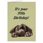 Funny 99th Birthday Customise Labrador Retriever Card