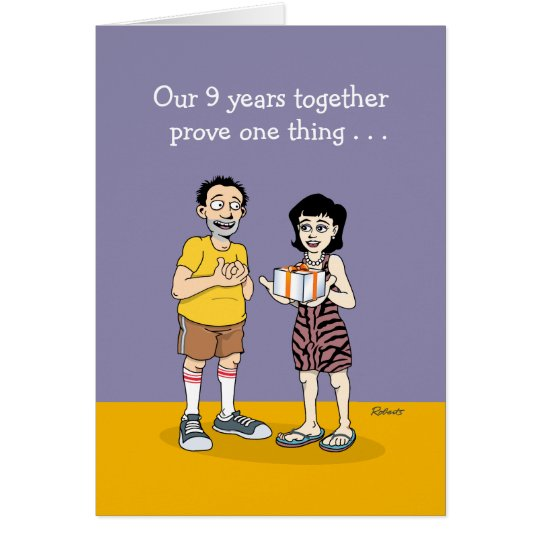 Funny 9th Anniversary Card