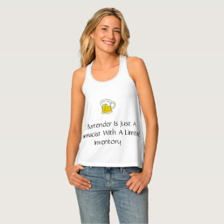 Funny A Bartender Is Just A Pharmacist Tank Top