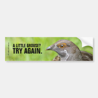 Funny A Little Grouse? Try Again. Bumper Sticker