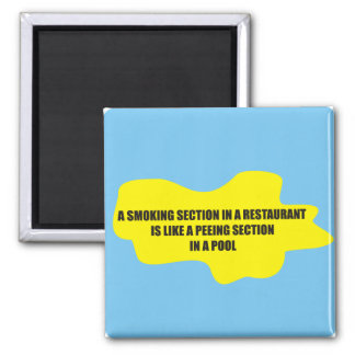 Funny - A smoking section in a restaurant Refrigerator Magnets