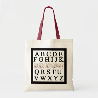 Funny ABCD elemenopee brown Tote Bag