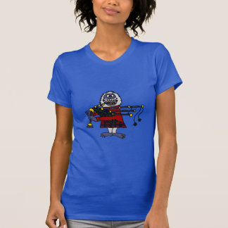 Funny Abominable Snowman Playing the Bagpipes T-Shirt