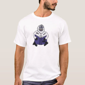 Funny Abominable Snowman Reading Global Warming T-Shirt