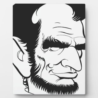 funny abraham lincoln caricature display plaque