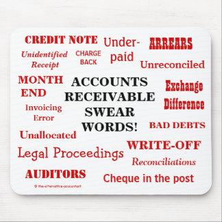 Funny Accounts Receivable Swear Words! AR Joke Mouse Pad