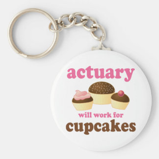 Funny Actuary Key Ring