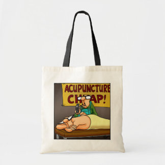 Funny Acupuncture Cartoon Tote Bag