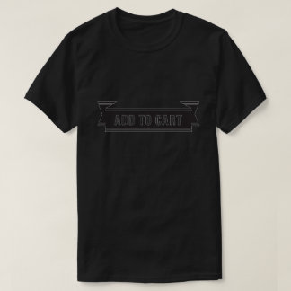 Funny Add To Cart Black Graphic T-Shirt