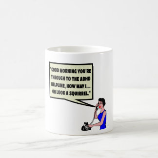 Funny ADHD Basic White Mug