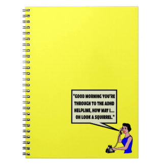 Funny ADHD Spiral Note Books