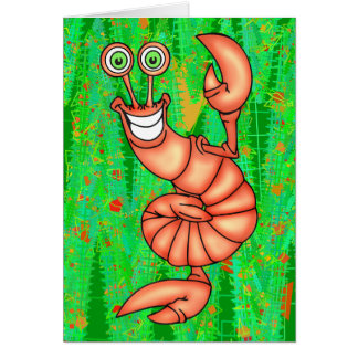 Funny Aerobic Lobster Card