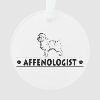 Funny Affenpinscher Affie Affenologist Ornament