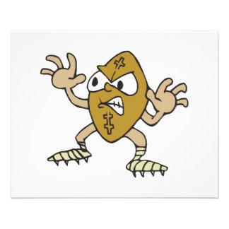 funny aggressive mean football cartoon character 11.5 cm x 14 cm flyer