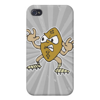 funny aggressive mean football cartoon character iPhone 4 cases