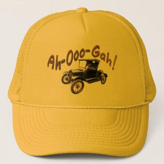 Funny Ah-Ooo-Gah Antique Car Horn Rusty Yellow Trucker Hat
