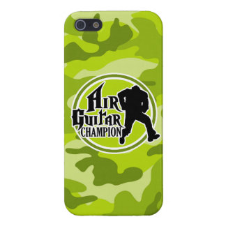 Funny Air Guitar; bright green camo, camouflage Cover For iPhone 5/5S