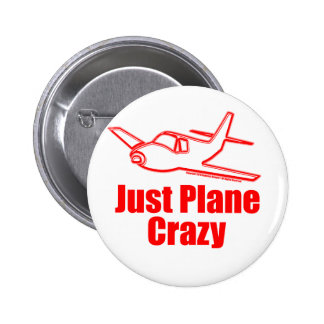 Funny Airplane 6 Cm Round Badge