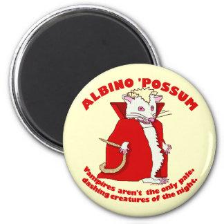 Funny Albino Possum Vampire Magnet