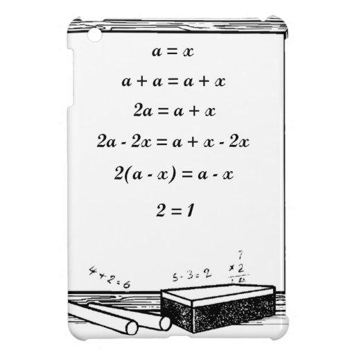 funny algebra joke iPad mini covers