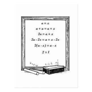 funny algebra joke postcard