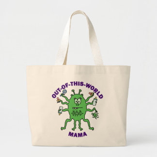 Funny Alien Mama Mother's Day Tote Bags