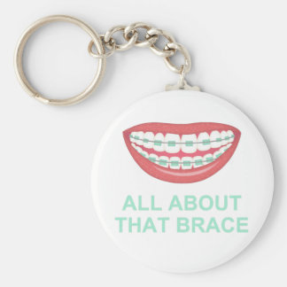 Funny All About the Brace Spoof Key Ring