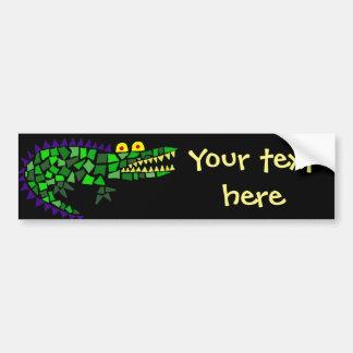 Funny Alligator Abstract Art Bumper Sticker
