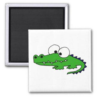 Funny Alligator Cartoon Magnet