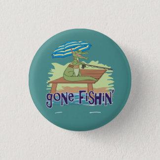 Funny Alligator Gone Fishing 3 Cm Round Badge