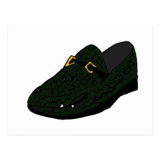 Funny Alligator Shoe Art Post Cards