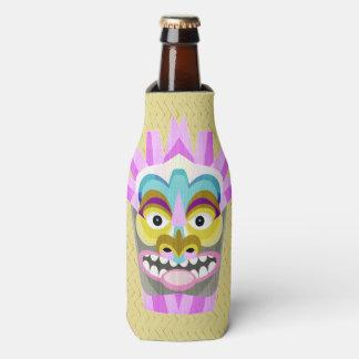 Funny Aloha Tiki Hut Monster Bottle Cooler