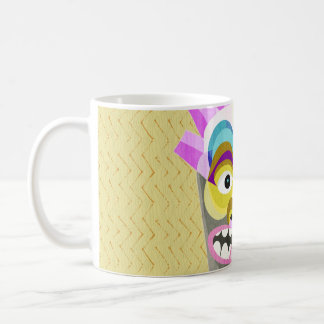 Funny Aloha Tiki Hut Monster Coffee Mug