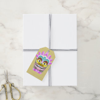 Funny Aloha Tiki Hut Monster Gift Tags