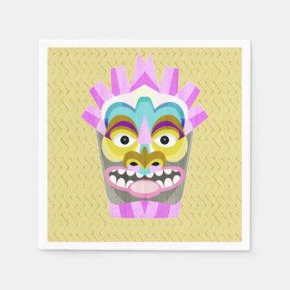 Funny Aloha Tiki Hut Monster Paper Napkins