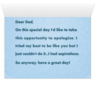 Funny Alternative Bad Dad Card