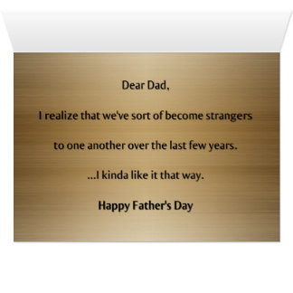 Funny Alternative Bad Dad Card