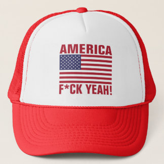Funny - AMERICA, F*CK YEAH! Trucker Hat