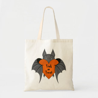 Funny amorous Halloween vampire bat Budget Tote Bag